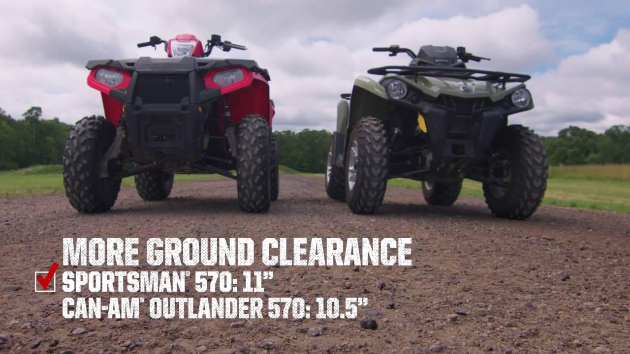 Sportsman Shootout Polaris 570 Vs Can Am Outlander L
