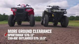 Sportsman Shootout: Polaris Sportsman 570 vs. Can-Am Outlander L 570 - Polaris Off Road Vehicles