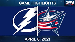 NHL Game Highlights | Lightning vs. Blue Jackets - Apr. 8, 2021