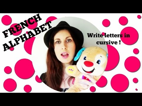 LEARN FRENCH | French alphabet - write cursive letters | FRENCH LESSONS #22