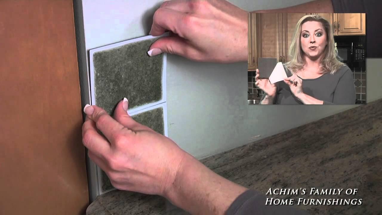 Installing Self Adhesive Vinyl Wall Tile Back Splash By Nexus Youtube