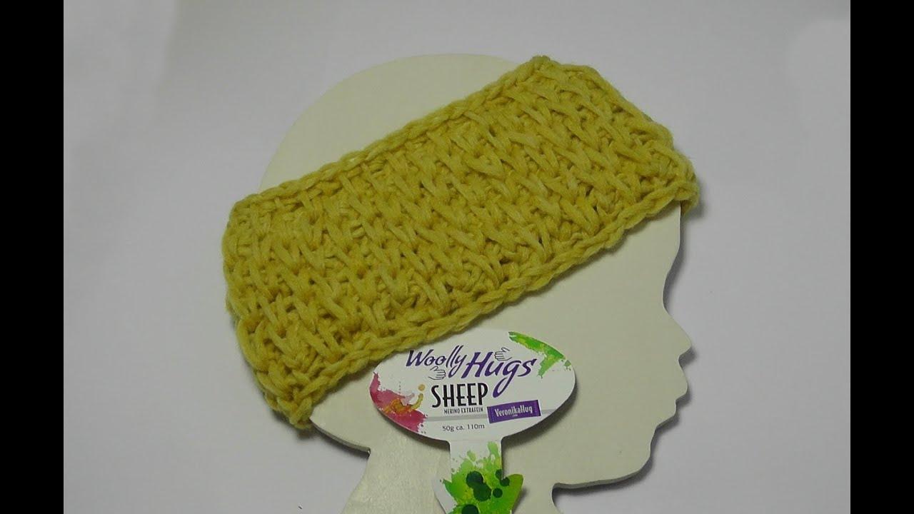 Tunesisch Häkeln - Stirnband Patentmuster - Woolly Hugs SHEEP ...