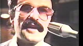 Giorgio Moroder in the studio 1979 with Harold Faltermeyer, modular synthesizer, Moog