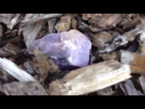 Finding an amethyst in the ground
