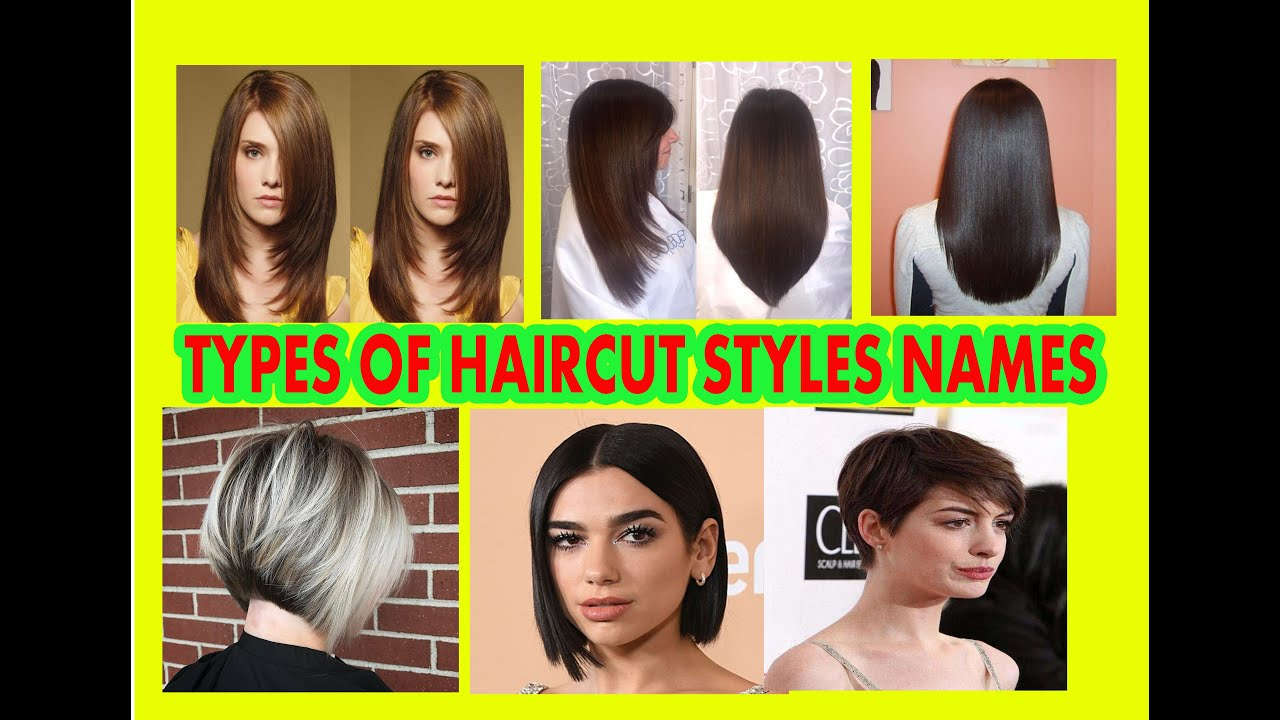 Types Of Haircut Styles Names For Women Youtube