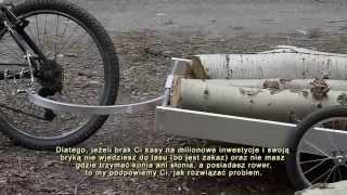 Przyczepka rowerowa, czyli jak wywieźć drewno z lasu