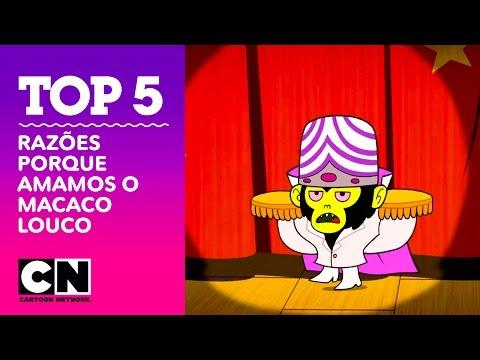 Razões Porque Amamos o Macaco Louco  Top 5   Cartoon Network