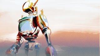 Sandstorm Crashed Robot