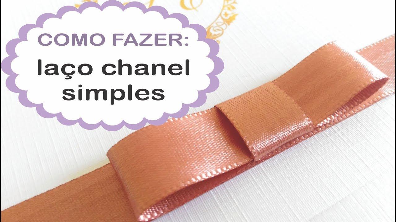 Como Fazer Laco Chanel Simples Para O Seu Convite Youtube