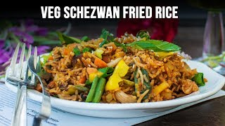 Easy And Quick 5 Minutes Veg Fried Schezwan Rice Recipe | Shezuan Fried Rice | Chinese Fried Rice