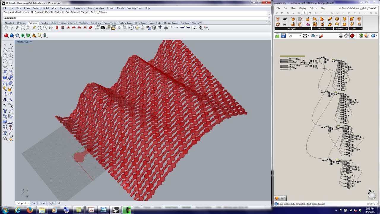 20150301 Tutorial Grasshopper Paneling W Isotrims N Cull