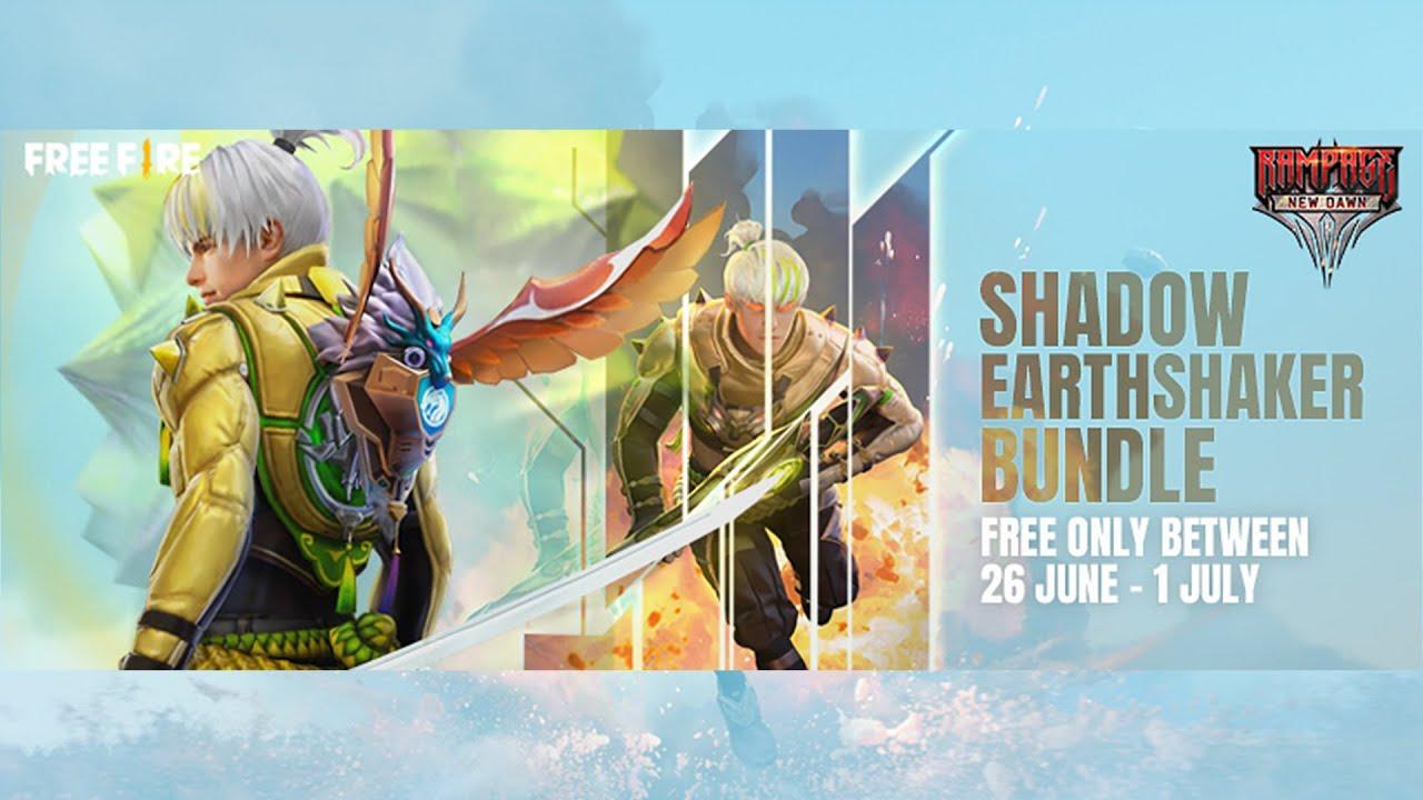 Shadow EarthShaker পরিসজ্জা বান্ডেল   Rampage New Dawn   Garena Free Fire