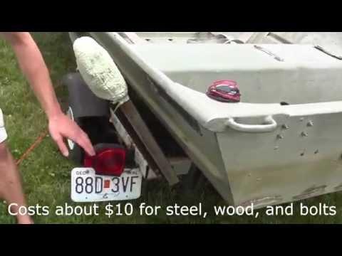 Boat Trailer Guides / Rail- Homemade $18 (for 14' Jon Boat)