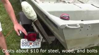 Boat Trailer Guides / Rail- Homemade $18 (for 14' Jon Boat)