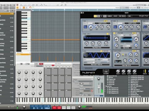 Akai Mpc Renaissance Software 1.7 Hybrid 3 synth demo 2 & How to create a chord Templete