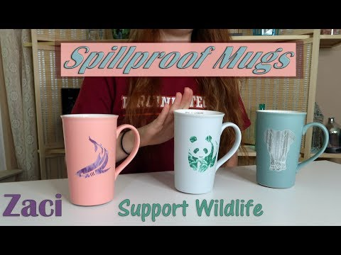 🍀 SPILLPROOF CERAMIC SUCTION MUG ZACI (Zaciwork) Support Wildlife VENTI CUP REVIEW 👈