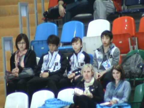 Worlds 2011 Kozuka, Oda, Takahashi at tribune 1