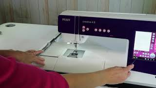 PFAFF creative 4.5 104 Embroidery Park Position
