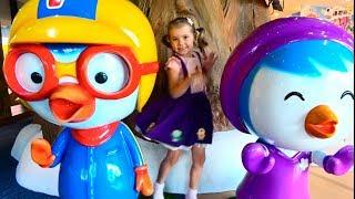 Indoor Soft play pool Pororo/Два факта о маме Кати/неВкусное мороженое и конфеты на дереве