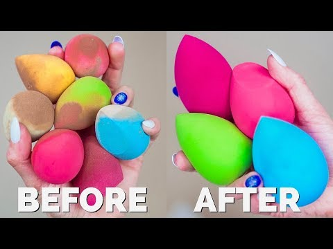 HOW TO CLEAN BEAUTY BLENDER!
