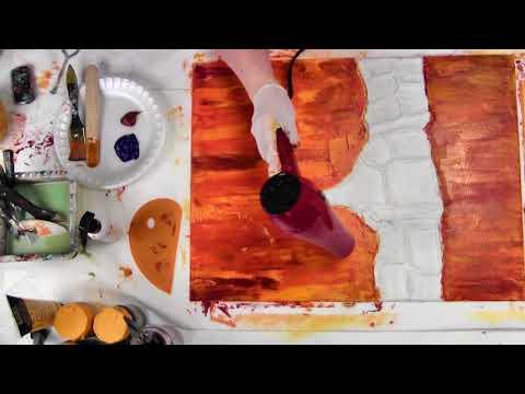 (Part three) Resin-abstract acrylic-Fluid art by Leslie Ohnstad