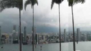 Singapur 2011 (Malesia, Singapore) - basen w chmurach. Marina Bay Sands