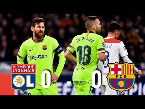 Lyon vs Barcelona [0-0], Champions League 2019, Round of 16 - MATCH REVIEW