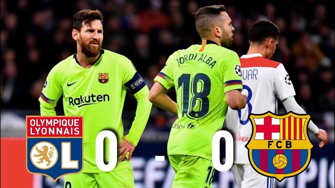 Lyon Vs Barcelona [0-0], Champions League 2019, Round Of