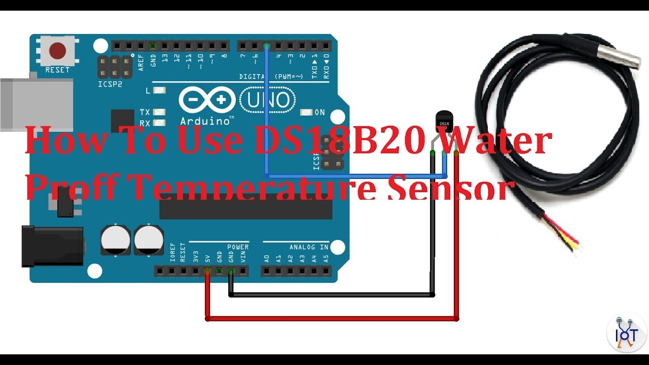 Waterproof Digital Thermal Probe or Sensor DS18B20 DS18B20 Arduino Sensor