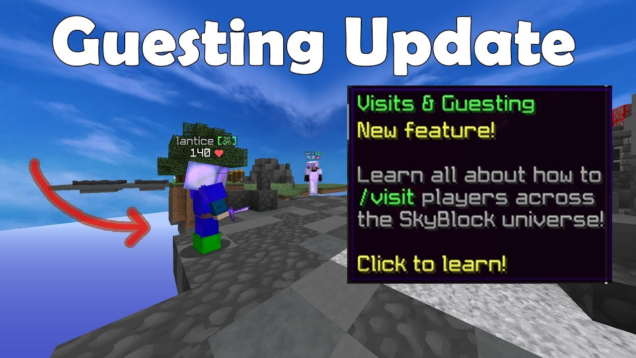 How to Visit Islands EXPLAINED - Hypixel Skyblock Update
