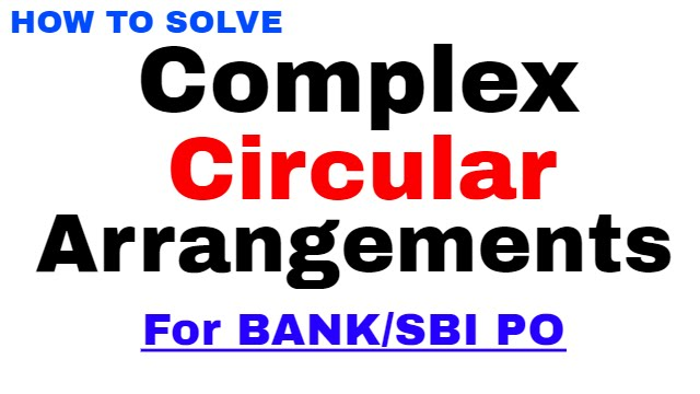 Circular arrangements tricks (Complex) for Bank PO | SBI PO | In Hindi - YouTube