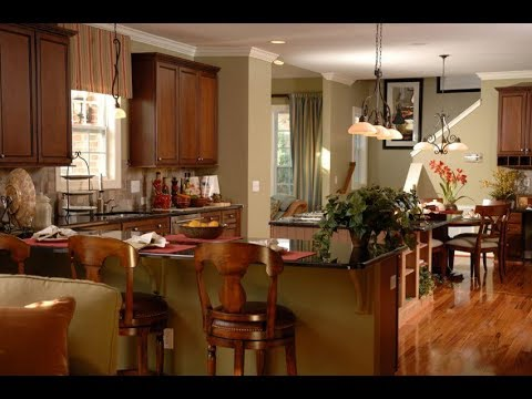 L Shaped Open Concept Kitchen Youtube
