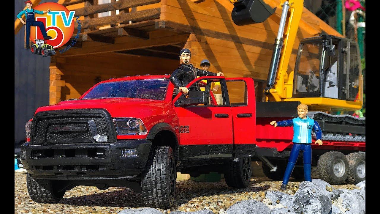 bruder truck ram 2500 excavator cat new car truck for. Black Bedroom Furniture Sets. Home Design Ideas