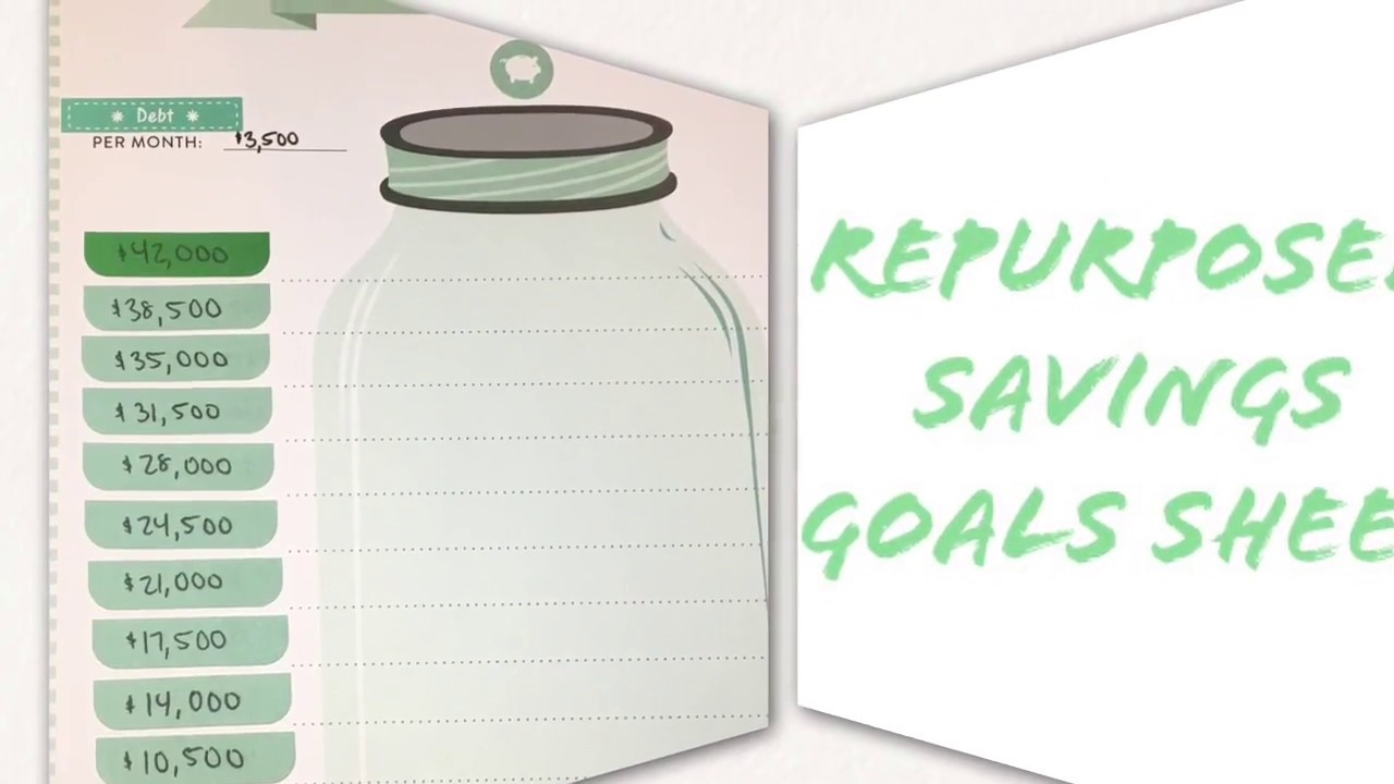 repurposed savings goals sheet happy planner budget edition