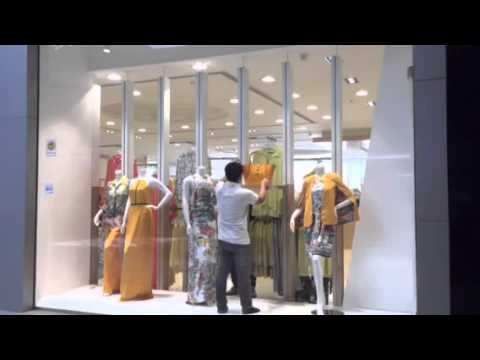 Creating our simple fashion retail window display and visual merchandising in less than 30 seconds.