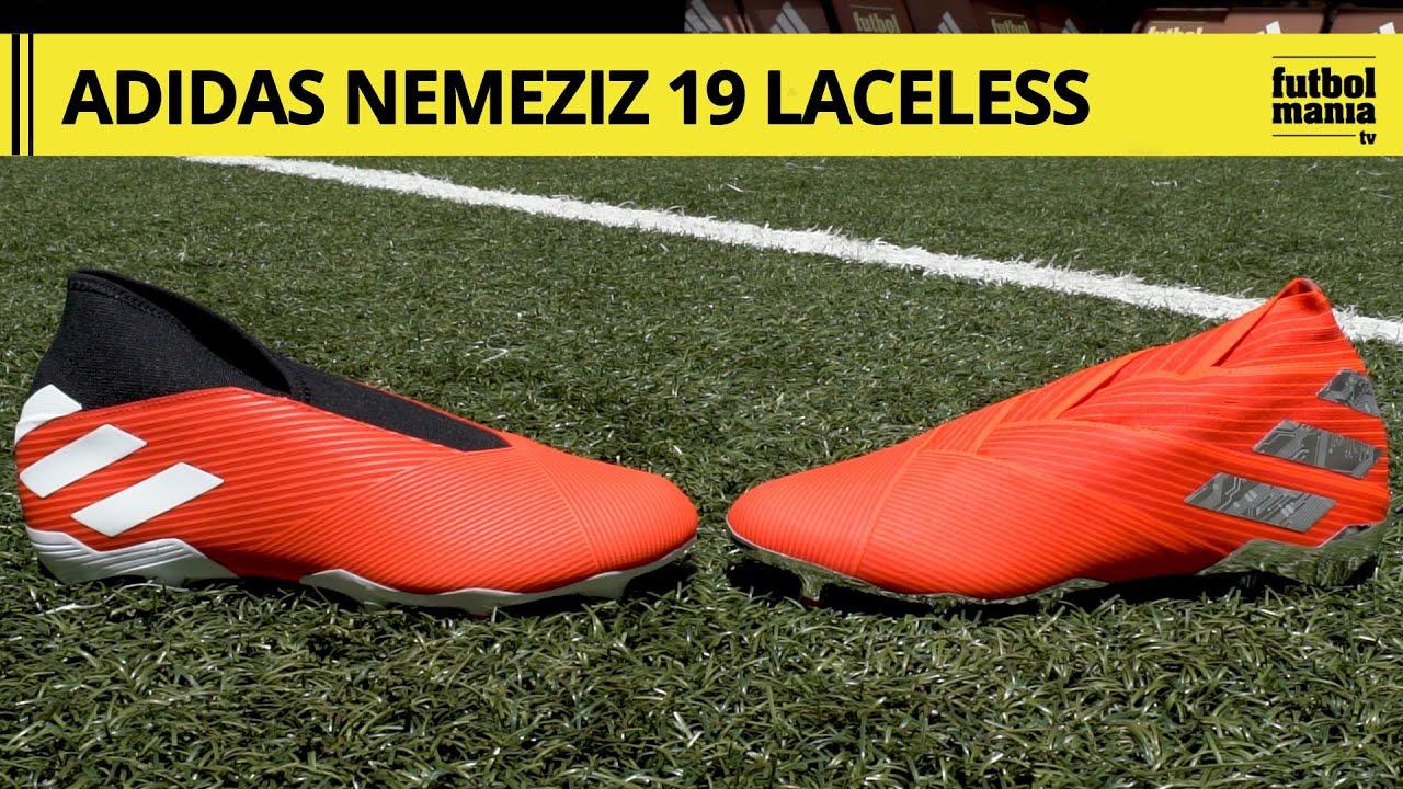 toma una foto martillo Aliado  adidas Nemeziz SIN CORDONES - Diferencias entre adidas Nemeziz 19+ y adidas  Nemeziz 19.3 LL - YouTube