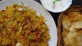 Vegetable Biryani - Lunch Box Recipe - Variety Rice - Indian Rice Varieties