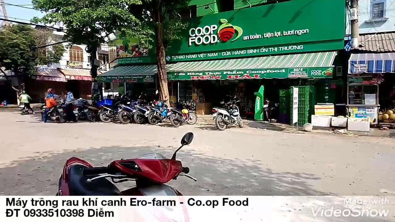 Đi siêu thị Co.op Food với máy trồng rau khí canh Ero-farm