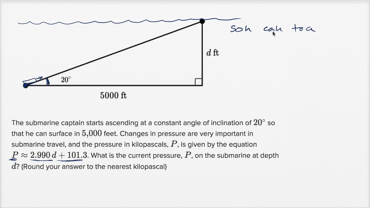 hight resolution of Right triangle word problems — Harder example (video)   Khan Academy