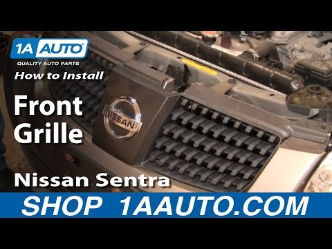 How To Replace Front Grille 04-06 Nissan Sentra - YouTube