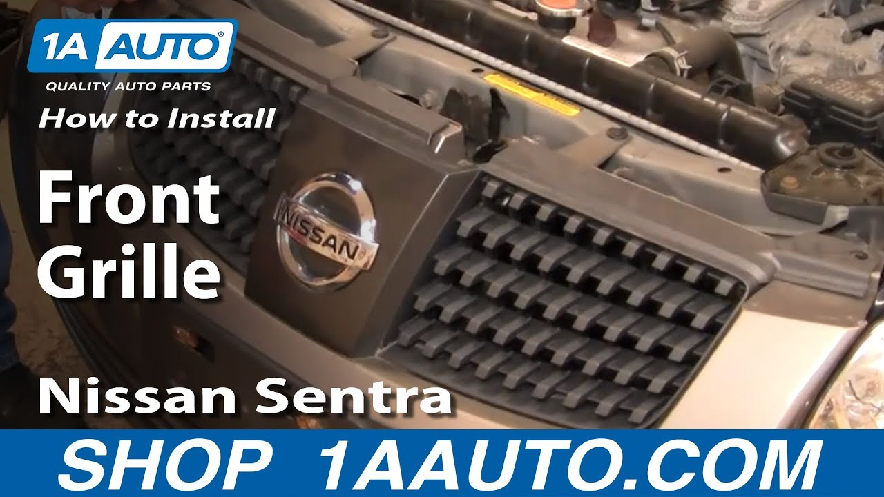 How To Replace Front Grille 04-06 Nissan Sentra