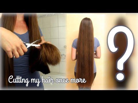 Ich schneide...mir so kurze Haare wie in zehn Jahren nicht.