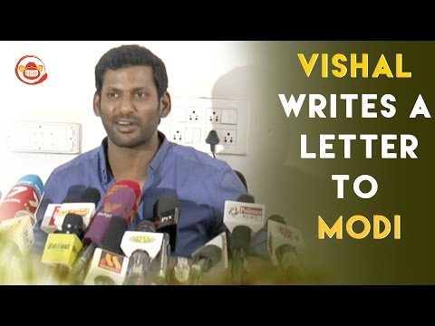 Vishal writes a letter to Prime Minister in support to Jallikattu