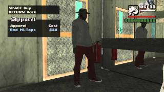 GTA San Andreas buy Clothes from Binco, Sub-Urban and Prolaps