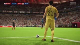 World Cup 2018 Croatia vs England - Semi Finals 2018 Full Match Sim (FIFA 18)