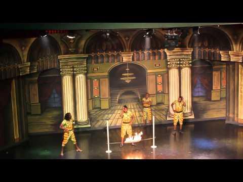 Шоу африканских акробатов