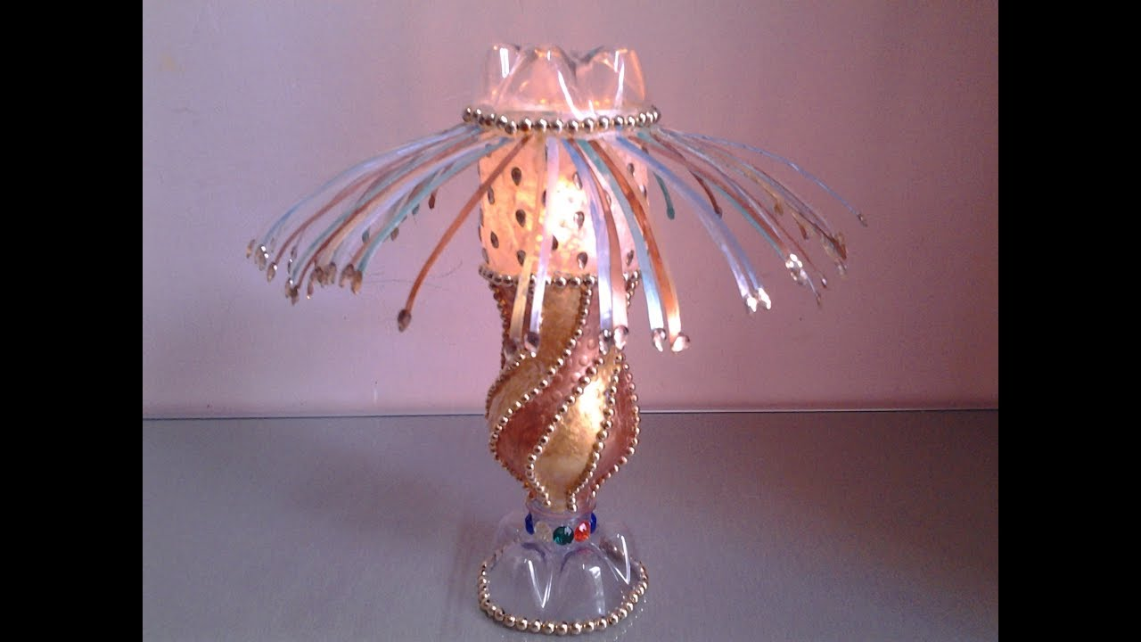 Best Out Of Waste Plastic Bottle Decorative Table Lamp ...