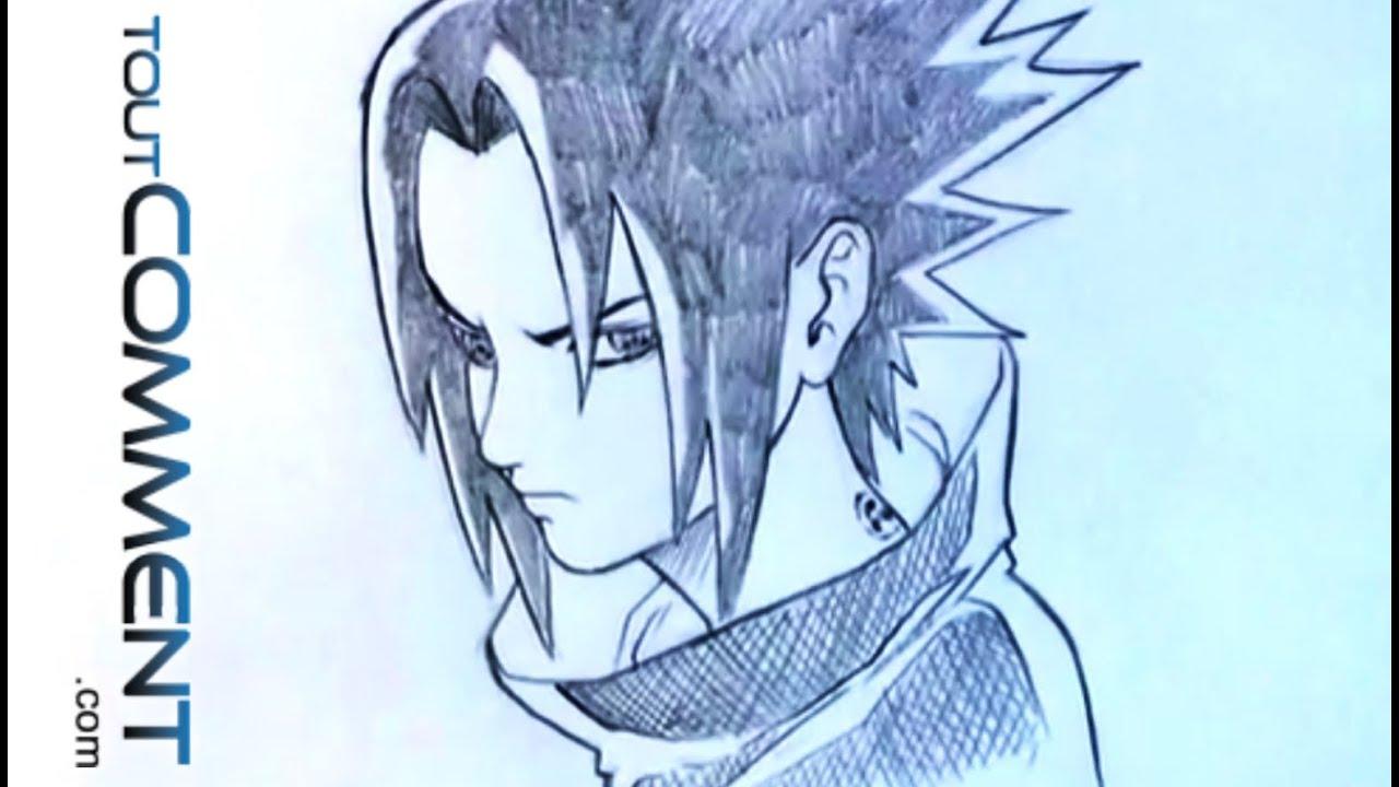 Dessiner sasuke uchiwa naruto youtube - Dessin naruto manga ...