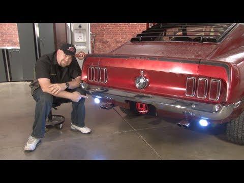 Dual Light Switch Wiring Diagram 2008 Ford F350 Trailer Mustang Scott Drake Led Back Up Kit 1965-1970 Installation - Youtube