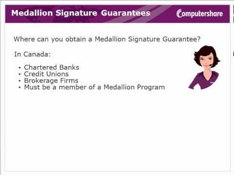 Medallion Signature Guarantees
